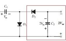 Circuito dobrador de tensão