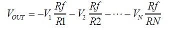 Fórmula do amp somador