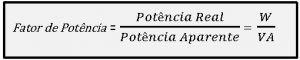 Fórmula para calcular Fator de Potência