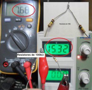 Fig.2 -Resistores de 100k em série