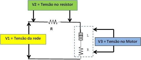 Circuito para medir corrente e tensão