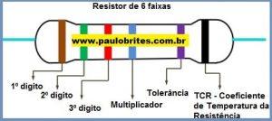 Resistor de 6 faixas