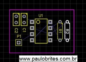 Fig. 19 – Sugestão para distribuição dos componentes