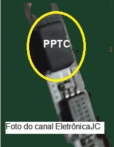 PPTC em uma bateria de celular