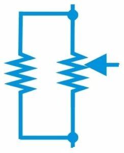Fig. 5 - Potenciômetro com resistor em paralelo